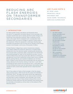 Cover of Reducing Arc Flash Energies on Transformer Secondaries