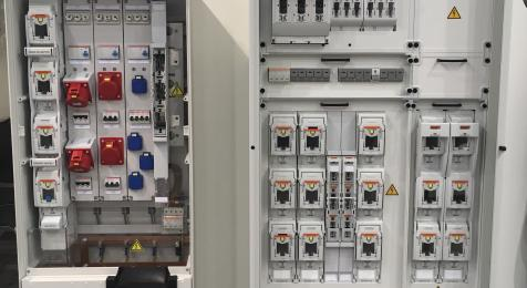 Cabinet with NH FSD Multivert Multibloc